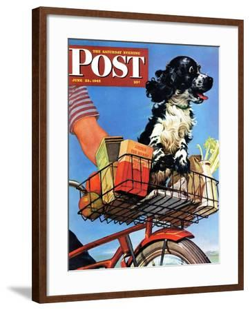 """Butch's Bike Ride,"" Saturday Evening Post Cover, June 23, 1945-Albert Staehle-Framed Giclee Print"