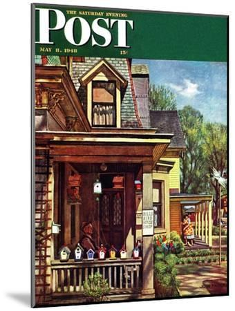 """Birdhouse Builder,"" Saturday Evening Post Cover, May 8, 1948-John Falter-Mounted Giclee Print"