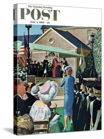 """College Graduation,"" Saturday Evening Post Cover, June 4, 1960-Thornton Utz-Stretched Canvas Print"