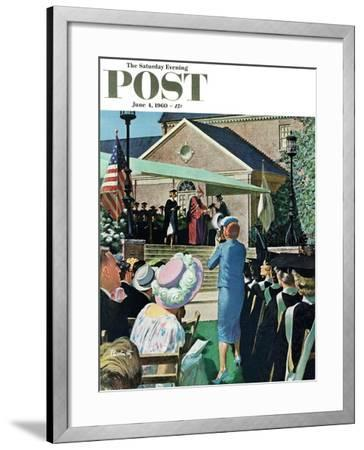 """College Graduation,"" Saturday Evening Post Cover, June 4, 1960-Thornton Utz-Framed Giclee Print"