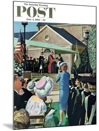 """College Graduation,"" Saturday Evening Post Cover, June 4, 1960-Thornton Utz-Mounted Giclee Print"