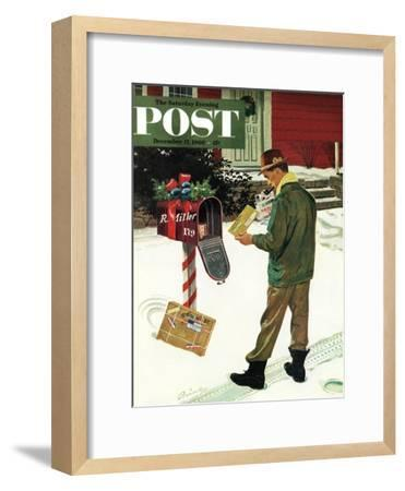 """Merry Christmas from the IRS,"" Saturday Evening Post Cover, December 17, 1960-Ben Kimberly Prins-Framed Giclee Print"