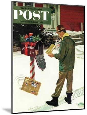 """Merry Christmas from the IRS,"" Saturday Evening Post Cover, December 17, 1960-Ben Kimberly Prins-Mounted Giclee Print"