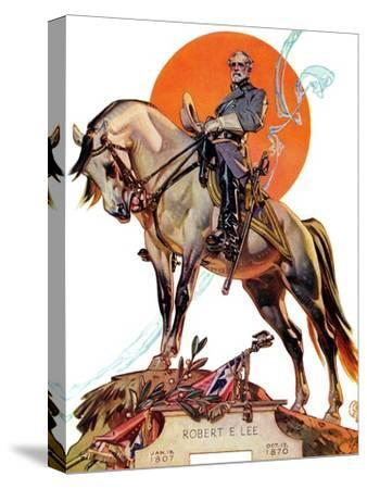 """Robert E. Lee on Traveler,"" January 20, 1940-Joseph Christian Leyendecker-Stretched Canvas Print"