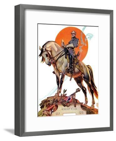 """""""Robert E. Lee on Traveler,"""" January 20, 1940-Joseph Christian Leyendecker-Framed Giclee Print"""