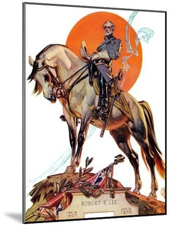 """""""Robert E. Lee on Traveler,"""" January 20, 1940-Joseph Christian Leyendecker-Mounted Giclee Print"""