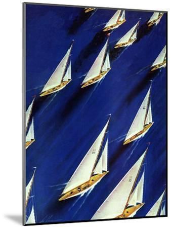 """Sailboat Regatta,"" June 29, 1940-Ski Weld-Mounted Giclee Print"