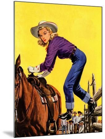 """""""Woman at Dude Rance,"""" June 20, 1942-Fred Ludekens-Mounted Giclee Print"""
