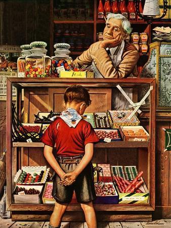 """Penny Candy,"" September 23, 1944-Stevan Dohanos-Premium Giclee Print"
