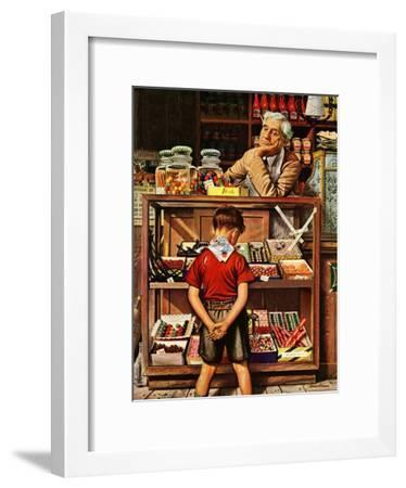 """""""Penny Candy,"""" September 23, 1944-Stevan Dohanos-Framed Giclee Print"""