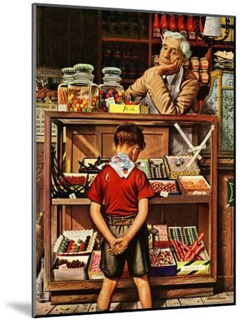 """Penny Candy,"" September 23, 1944-Stevan Dohanos-Mounted Giclee Print"