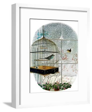 """Birdtalk,"" January 6, 1962-Gyo Fujikawa-Framed Giclee Print"