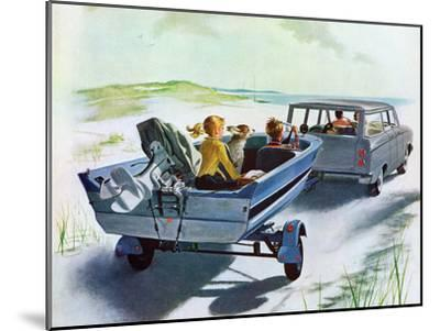 """""""Highway Boatride,"""" July 14, 1962-George Hughes-Mounted Giclee Print"""