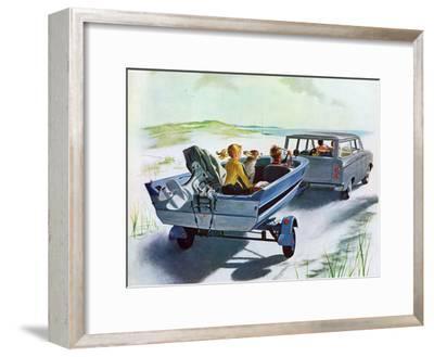 """Highway Boatride,"" July 14, 1962-George Hughes-Framed Giclee Print"