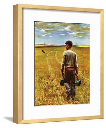 """Amber Waves of Grain,"" September 8, 1945-John Falter-Framed Premium Giclee Print"