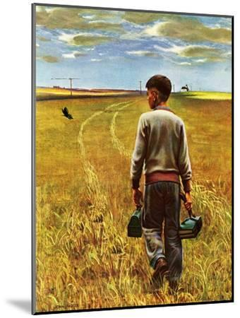 """Amber Waves of Grain,"" September 8, 1945-John Falter-Mounted Premium Giclee Print"