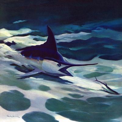 """""""Swordfish,"""" February 28, 1942-William Goadby Lawrence-Framed Giclee Print"""