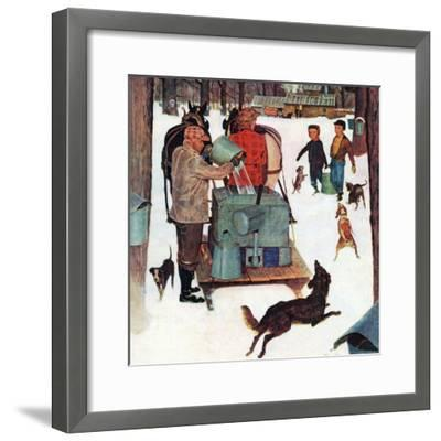 """""""Maple Syrup Time in Vermont,"""" February 17, 1945-Mead Schaeffer-Framed Giclee Print"""