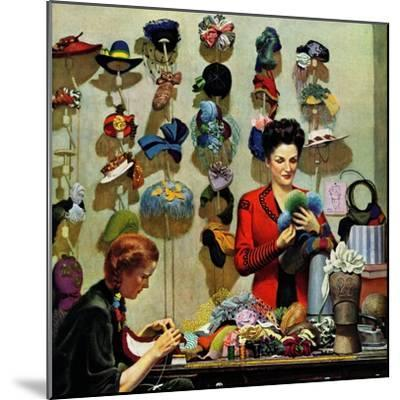 """Millinery Shop,"" March 10, 1945-John Falter-Mounted Premium Giclee Print"