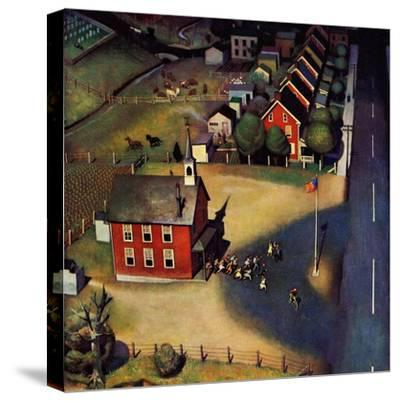 """""""School's Out,"""" June 9, 1945-John Falter-Stretched Canvas Print"""