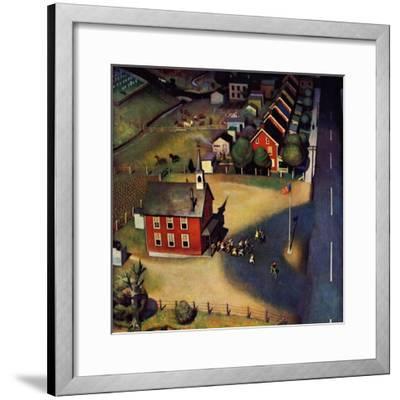 """""""School's Out,"""" June 9, 1945-John Falter-Framed Giclee Print"""