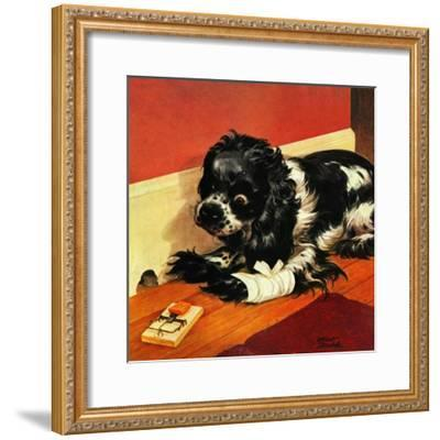 """Butch and Mousetrap,"" June 8, 1946-Albert Staehle-Framed Giclee Print"