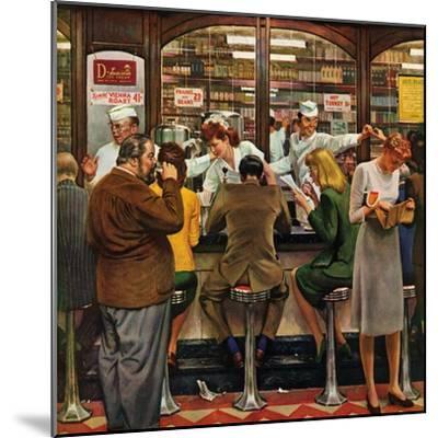 """Lunch Counter,"" October 12, 1946-John Falter-Mounted Premium Giclee Print"