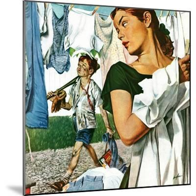 """More Clothes to Clean,"" April 17, 1948-George Hughes-Mounted Premium Giclee Print"