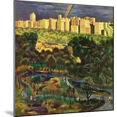 """Central Park Rainbow,"" April 30, 1949-John Falter-Mounted Giclee Print"