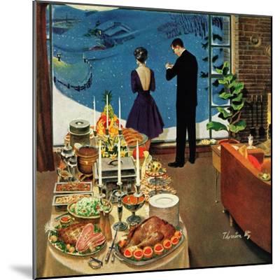 """Snow Buffet Party,"" February 20, 1960-Thornton Utz-Mounted Giclee Print"