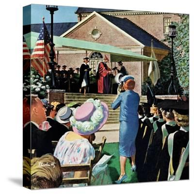 """College Graduation,"" June 4, 1960-Thornton Utz-Stretched Canvas Print"