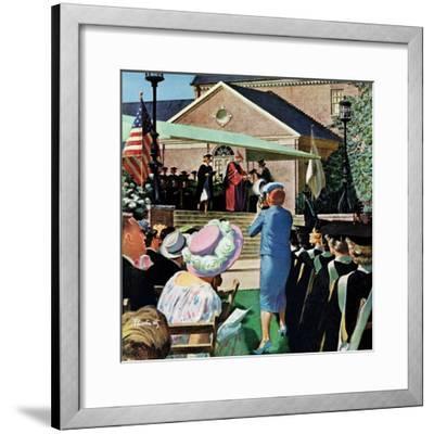 """College Graduation,"" June 4, 1960-Thornton Utz-Framed Giclee Print"