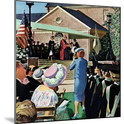 """College Graduation,"" June 4, 1960-Thornton Utz-Mounted Giclee Print"