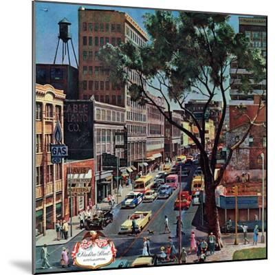 """Peachtree Street,"" June 25, 1960-John Falter-Mounted Premium Giclee Print"