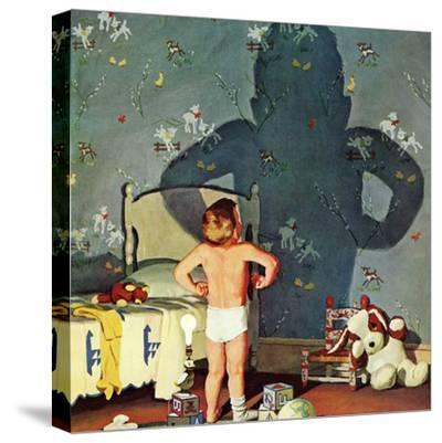 """Big Shadow, Little Boy,"" October 22, 1960-Richard Sargent-Stretched Canvas Print"
