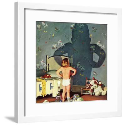 """""""Big Shadow, Little Boy,"""" October 22, 1960-Richard Sargent-Framed Giclee Print"""