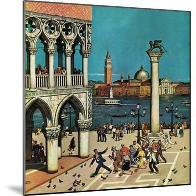 """""""American Tourists in Venice,"""" June 10, 1961-Amos Sewell-Mounted Giclee Print"""