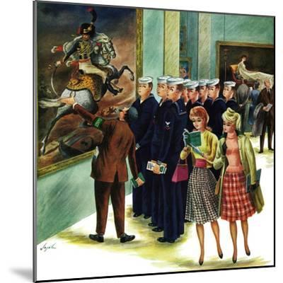 """Girl-Watching Sailors,"" August 12, 1961-Constantin Alajalov-Mounted Giclee Print"