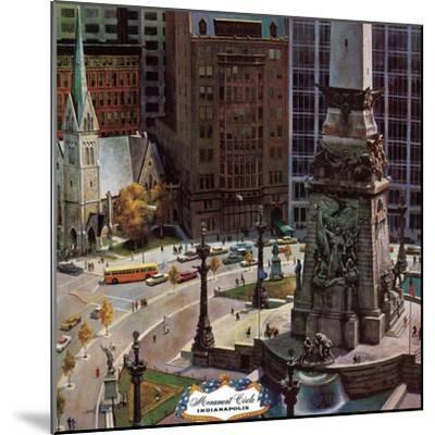 """Monument Circle,"" October 28, 1961-John Falter-Mounted Premium Giclee Print"