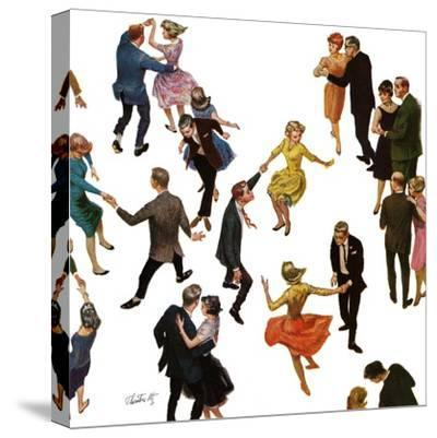 """Different Dancing Styles,"" November 4, 1961-Thornton Utz-Stretched Canvas Print"