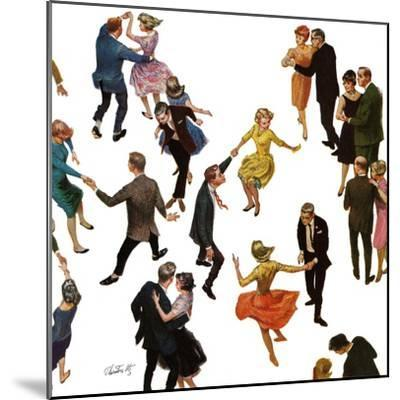 """Different Dancing Styles,"" November 4, 1961-Thornton Utz-Mounted Giclee Print"