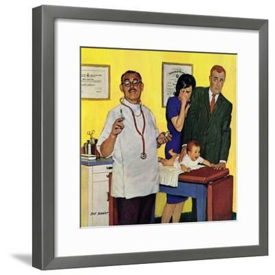 """""""Baby's First Shot,"""" March 3, 1962-Richard Sargent-Framed Giclee Print"""