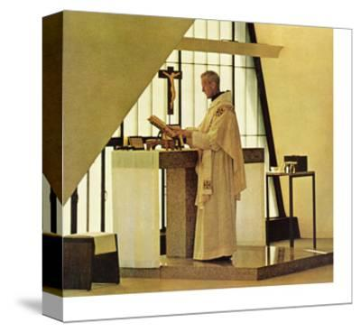 """Benedictine Monk,"" November 28, 1964-Burt Glinn-Stretched Canvas Print"