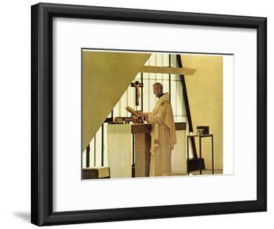 """Benedictine Monk,"" November 28, 1964-Burt Glinn-Framed Giclee Print"