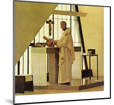 """Benedictine Monk,"" November 28, 1964-Burt Glinn-Mounted Giclee Print"
