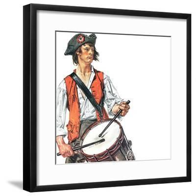"""Re-print of ""Colonial Drummer"","" July/Aug 1976-Joseph Christian Leyendecker-Framed Giclee Print"