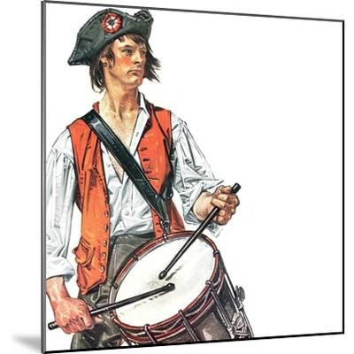 """""""Re-print of """"Colonial Drummer"""","""" July/Aug 1976-Joseph Christian Leyendecker-Mounted Giclee Print"""