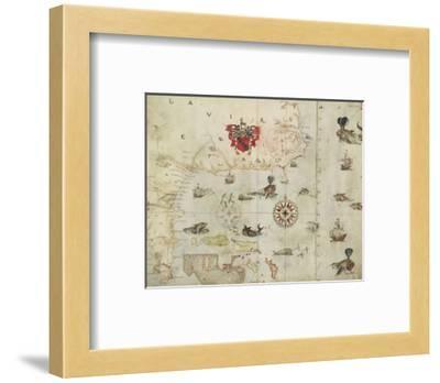 La Virgenia Pars: a Map of the East Coast of N. America-John White-Framed Giclee Print