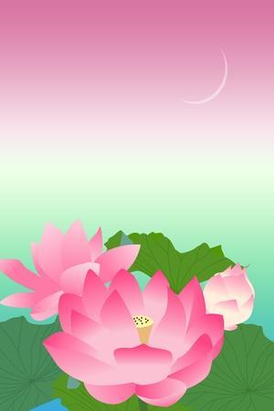 Lotus at Night-Ikuko Kowada-Stretched Canvas Print