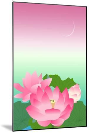 Lotus at Night-Ikuko Kowada-Mounted Giclee Print
